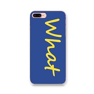 Için IMD Temalı Pouzdro Arka Kılıf Pouzdro Kelime / Cümle Sert PC için Apple iPhone 7 Plus iPhone 7 iPhone 6s Plus/6 Plus iPhone 6s/6