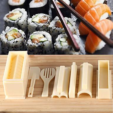 초밥 요리 도구 DIY 10 개 초밥 메이커 스시 롤 도구 주먹밥 금형