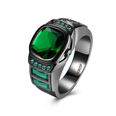 نساء خاتم كريستال ترف الأحجار الكريمة الاصطناعية نحاس مجوهرات يوميا فضفاض