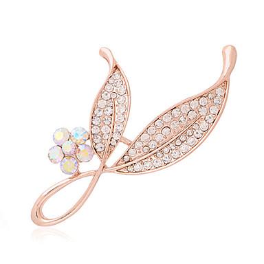 Pentru femei Broșe Lux Modă Diamante Artificiale Argintiu Auriu Bijuterii Pentru Nuntă Petrecere Zilnic Casual