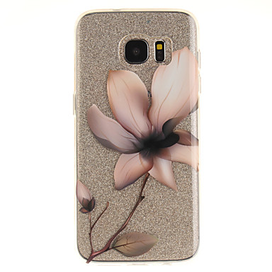cheap Galaxy S3 Cases / Covers-Case For Samsung Galaxy S7 edge / S7 / S3 IMD / Transparent / Pattern Back Cover Flower Soft TPU
