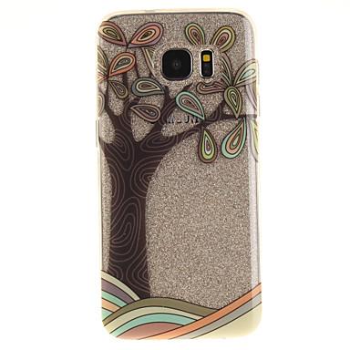 Για IMD Διαφανής Με σχέδια tok Πίσω Κάλυμμα tok Δέντρο Μαλακή TPU για Samsung S7 edge S7 S3