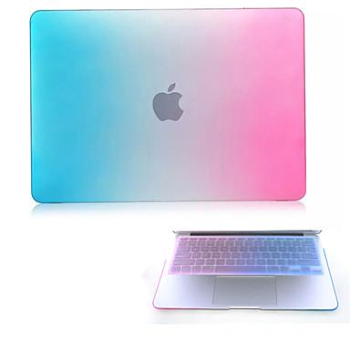 de alta qualidade fosco protetor duro cor gradiente caso de corpo inteiro e tampa do teclado TPU para macbook 12