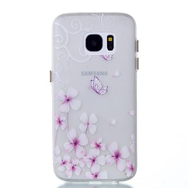 Pouzdro Uyumluluk Samsung Galaxy S8 Plus S8 Karanlıkta Parlayan Arka Kılıf Kelebek Yumuşak TPU için S8 S8 Plus S7 edge S7