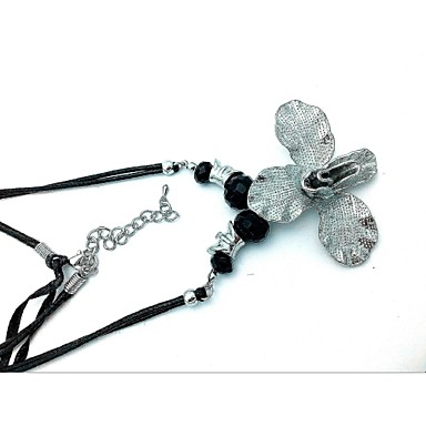 Kadın Uçlu Kolyeler Çiçek Cam alaşım Moda Euramerican Mücevher Uyumluluk Parti Günlük