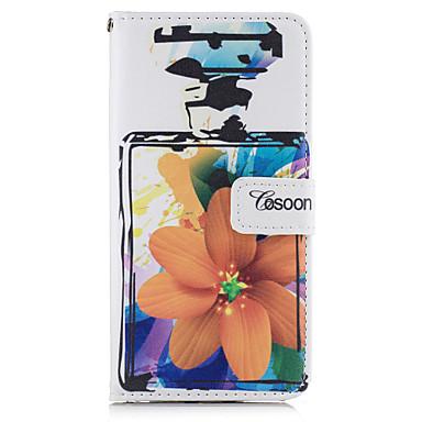 Pentru Portofel Titluar Card Cu Stand Întoarce Maska Corp Plin Maska Floare Greu PU piele pentru AppleiPhone 7 Plus iPhone 7 iPhone 6s