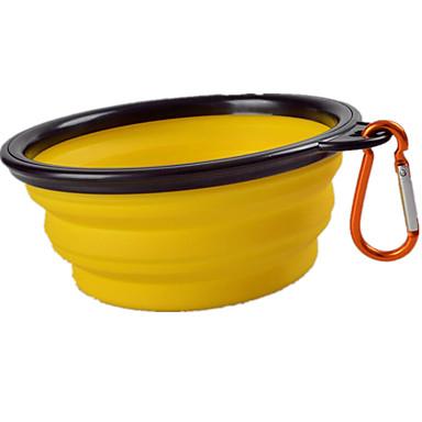 L Kissa Koira Kulhot ja vesipullot Lemmikit Kupit ja ruokinta Kannettava Taiteltava Keltainen Vihreä Sininen