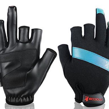 BOODUN/SIDEBIKE® Aktivite / Spor Eldivenleri Balıkçı Eldivenleri Sıcak Tutma Giyilebilir Yıpranmaz Parmaksız Deri Balıkçılık Unisex