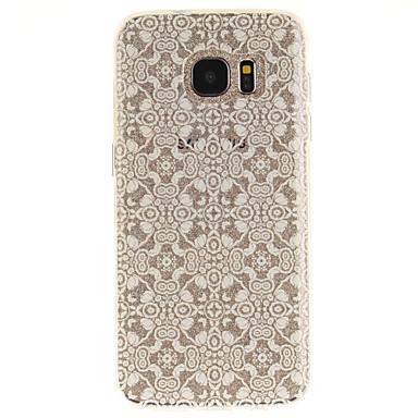 tok Για Samsung Galaxy S7 edge S7 IMD Διαφανής Με σχέδια Πίσω Κάλυμμα Λουλούδι Μαλακή TPU για S7 edge S7 S3