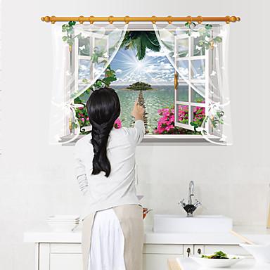 أزياء مناظر الطبيعية مربع 3D ملصقات الحائط لواصق حائط الطائرة لواصق لواصق حائط مزخرفة,ورق مادة تصميم ديكور المنزل جدار مائي
