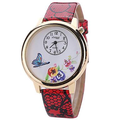 Damskie Modny Zegarek na nadgarstek Kwarcowy / Skóra Pasmo Nowoczesne Na co dzień Biały Niebieski Czerwony Różowy Rose