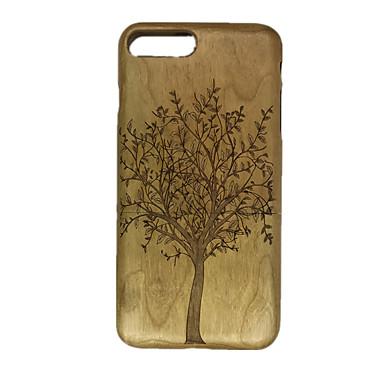 Na Wytłaczany wzór Kılıf Etui na tył Kılıf Drzewo Twarde Drewno na Apple iPhone 7 Plus