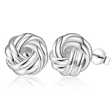 Vidali Küpeler Bakır Gümüş Kaplama Gümüş Mücevher Için Günlük 1 çift