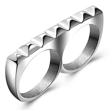 Κρίκοι Πάρτι Καθημερινά Causal Αθλητικά Κοσμήματα Τιτάνιο Ατσάλι Άντρες Εντυπωσιακά Δαχτυλίδια Δαχτυλίδι 1pc,7 8 9 Όπως στην εικόνα
