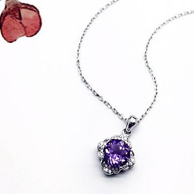 Kadın Kolye Uçları Kristal Kristal Zirkon Kübik Zirconia Basic Tasarım Çok güzel lüks mücevher Mücevher Uyumluluk Günlük