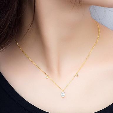 Μενταγιόν Κράμα απομίμηση διαμαντιών Βασικό Κυκλικό Μοναδικό Μοντέρνα Χρυσό Κοσμήματα Καθημερινά 1pc