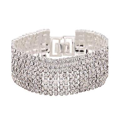 Dame Bratari de tenis Zirconiu imitație de diamant Aliaj La modă Bijuterii Alb Auriu Bijuterii 1 buc