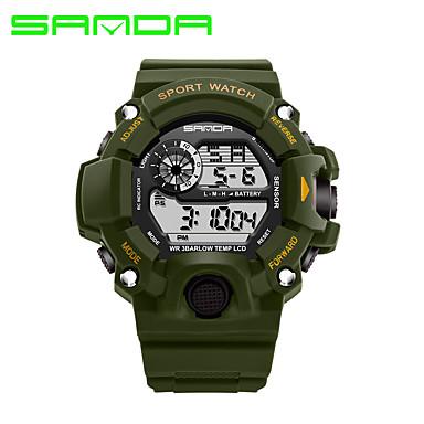 SANDA Bărbați Ceas Sport / Uita-te inteligent / Ceas de Mână Calendar / LED / Digipas Fitness Silicon Bandă Casual / Modă Negru / Cronometru / Iluminat