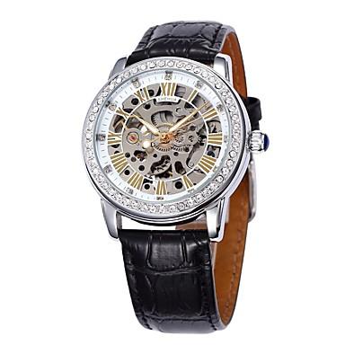 Ανδρικά μηχανικό ρολόι Ρολόι Καρπού Μοδάτο Ρολόι Αθλητικό Ρολόι Αυτόματο κούρδισμα Γνήσιο δέρμα Μπάντα Βίντατζ Καθημερινό Πολύχρωμο