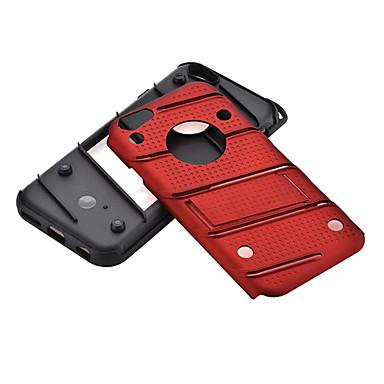 Için Şoka Dayanıklı Satandlı Pouzdro Arka Kılıf Pouzdro Solid Renkli Sert PC için AppleiPhone 7 Plus iPhone 7 iPhone 6s Plus/6 Plus