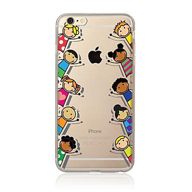 Varten Kuvio Etui Takakuori Etui Piirros Pehmeä TPU varten AppleiPhone 7 Plus iPhone 7 iPhone 6s Plus/6 Plus iPhone 6s/6 iPhone SE/5s/5