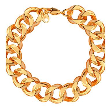 Bărbați Pentru femei Dame Brățări cu Lanț & Legături La modă Placat Auriu Cross Shape Bijuterii Bijuterii Pentru Nuntă Petrecere Zi de