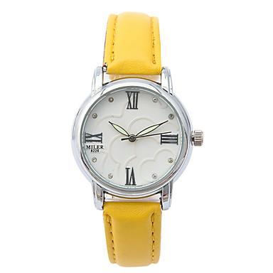 Kadın's Moda Saat / Gündelik Saatler / Deri Bant Günlük Beyaz