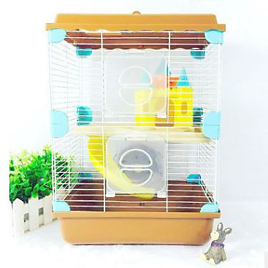 Rozătoare Hamster Plastic Cuști Cafea Albastru Roz