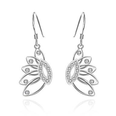 Kolczyki wiszące Cyrkonia Cyrkon Miedź Silver Biżuteria Na Codzienny Casual 1 para