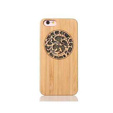 Varten Iskunkestävä Koristeltu Kuvio Etui Takakuori Etui Eläin Kova Bambu varten Apple iPhone 6s/6