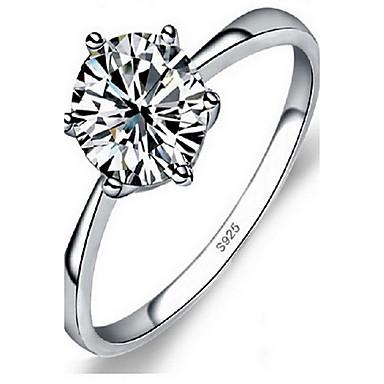 Damskie Pierscionek Biżuteria minimalistyczny styl Modny luksusowa biżuteria Srebro standardowe Imitacja diamentu Biżuteria Na Ślub