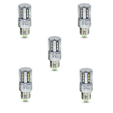 E26/E27 LED Λάμπες Καλαμπόκι T 24 leds SMD 5736 Διακοσμητικό Θερμό Λευκό Ψυχρό Λευκό 3000/6500lm 3000K/6500K