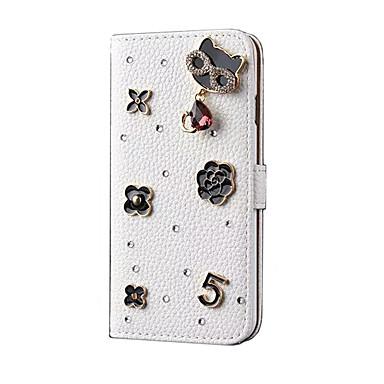 Για Θήκη καρτών με βάση στήριξης tok Πλήρης κάλυψη tok Γάτα Σκληρή Συνθετικό δέρμα για Apple iPhone 6s Plus/6 Plus iPhone 6s/6