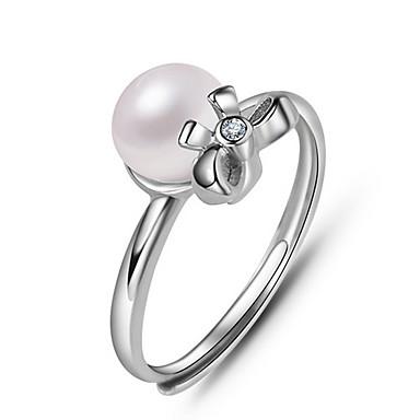 Damskie Pierscionek Pearl imitacja Korygujący Otwarte Perłowy Imitacja pereł Biżuteria Na Codzienny Casual