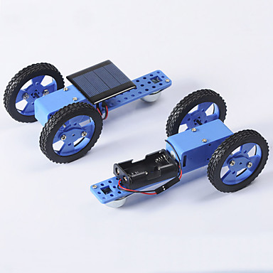 Crab Kingdom Electric Toy Car a Variety of Specifications DIY Technology Production Model Hand Assembled Toys 57 (Battery Box Version)