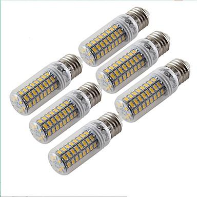 6pcs 4.5W 300 lm E27 LED Küre Ampuller T 72 led SMD 5730 Dekorotif Sıcak Beyaz 3000 K AC 220-240 V