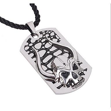 Erkek Uçlu Kolyeler Titanyum Çelik Sallantılı Stil Kişiselleştirilmiş Gümüş Mücevher Için Günlük 1pc