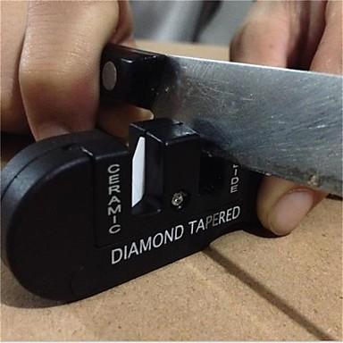 1pcs üç aşama seramik karbür elmas bıçak kalemtıraş açık araç balık kancası profesyonel bileme taşı