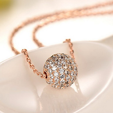 Kadın's Kolye Uçları 18K altın alaşım Temel Moda Mücevher Uyumluluk Günlük