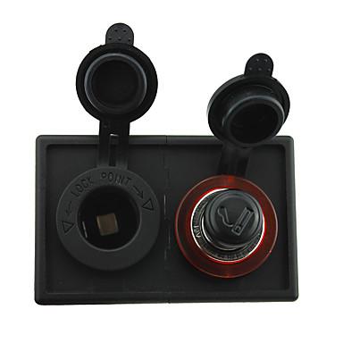 12v / 24v bricheta și adaptorul de alimentare soclu cu panou suport pentru locuințe pentru camioane cu barca auto rv