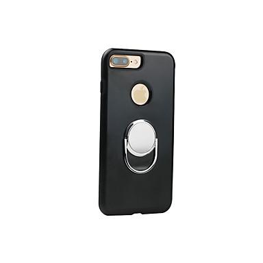 Uyumluluk iPhone 7 iPhone 7 Plus iPhone 6 Kılıflar Kapaklar Şoka Dayanıklı Yüzüklü Tutacak Arka Kılıf Pouzdro Tek Renk Yumuşak TPU için