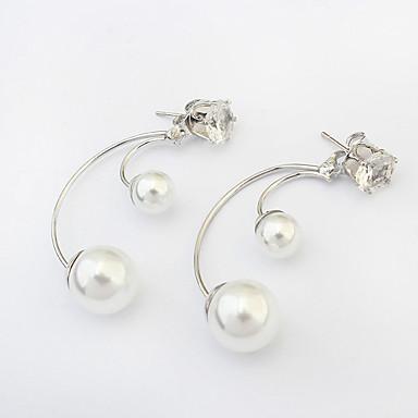 Damskie Kolczyki na sztyft Modny Europejski Perłowy Imitacja pereł Stop Biżuteria Silver Biżuteria kostiumowa