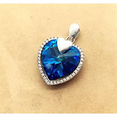 Kadın Kolye Uçları Kristal Değerli Taş Kristal Simüle Elmas Aşk Kalp lüks mücevher Mücevher Uyumluluk Günlük