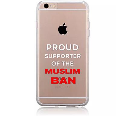 Για Με σχέδια tok Πίσω Κάλυμμα tok Λέξη / Φράση Μαλακή TPU για AppleiPhone 7 Plus iPhone 7 iPhone 6s Plus/6 Plus iPhone 6s/6 iPhone