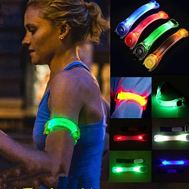 1szt sportowe twórcze festiwalowe imprezy migające światła led blask opaska pas Multi Color losowy kolor