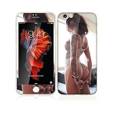 لتفاح iphone 6S / 6 4.7 خفف من الزجاج مع حامي حافة ناعمة التغطية الكاملة الشاشة الشاشة الأمامية وحامي الظهر مثير فتاة نمط