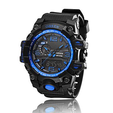 Męskie Sportowy Modny Zegarek na nadgarstek Kwarcowy LED Chronograf Wodoszczelny alarm Stoper Silikon Pasmo Postarzane Na co dzień