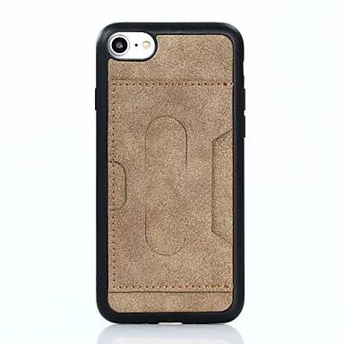 Για Θήκη καρτών Ανθεκτική σε πτώσεις με βάση στήριξης tok Πίσω Κάλυμμα tok Μονόχρωμη Μαλακή Συνθετικό δέρμα για AppleiPhone 7 Plus iPhone