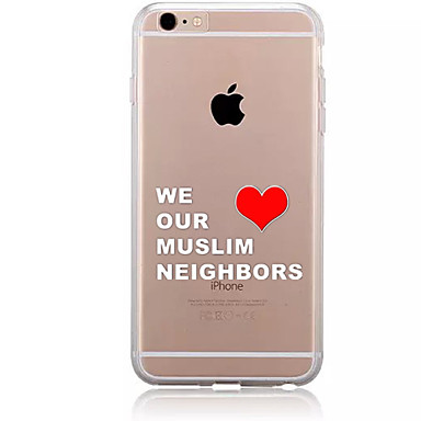 Varten Kuvio Etui Takakuori Etui Sana / lause Pehmeä TPU varten AppleiPhone 7 Plus iPhone 7 iPhone 6s Plus/6 Plus iPhone 6s/6 iPhone