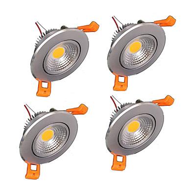 4adet 5w 500-550lm destek kısılabilir sıcak beyaz, soğuk beyaz doğal beyaz AC110V / 220V / 12V paneli led ışıkları z®zdm